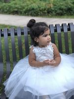 A-Line/Princess Knee-length Flower Girl Dress - Satin/Tulle/Lace Sleeveless Scoop Neck With Back Hole (010144110)