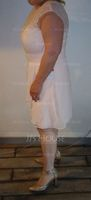 Sheath/Column Scoop Neck Knee-Length Chiffon Lace Mother of the Bride Dress (267213649)