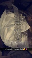 Beautiful Satin Sash With Rhinestones/Imitation Pearls (015101433)