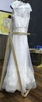 A-Line/Princess Scoop Neck Floor-Length Organza Wedding Dress With Beading Sequins (002095820)