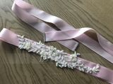 Exquisite Satin Sash With Rhinestones (015080164)