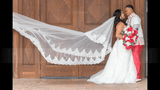 Two-tier Lace Applique Edge Cathedral Bridal Veils With Lace (006150910)