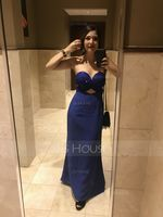 Trumpet/Mermaid Sweetheart Floor-Length Chiffon Prom Dresses With Beading Sequins (272184156)
