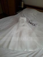 Ball-Gown Sweetheart Floor-Length Organza Wedding Dress With Ruffle Beading Sequins (002051625)