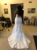 Trumpet/Mermaid Sweetheart Court Train Tulle Lace Wedding Dress (002117030)