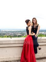 A-Line Scoop Neck Floor-Length Satin Prom Dresses With Pockets (018070369)