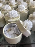 Lovely Cylinder Card Paper Favor Boxes With Flowers (Set of 12) (050039696)