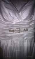 Stylish Satin Sash With Rhinestones/Imitation Pearls (015071960)