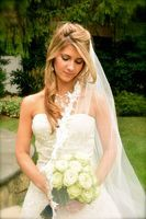 One-tier Lace Applique Edge Cathedral Bridal Veils With Applique (006024554)