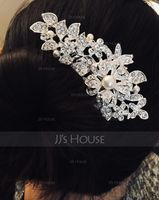 Gorgeous Rhinestone/Alloy/Imitation Pearls Combs & Barrettes (042093998)