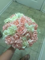 Charming Round PE Bridal Bouquets/Bridesmaid Bouquets - (123068416)