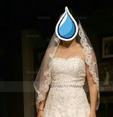 One-tier Elbow Bridal Veils With Lace Applique Edge (006037920)