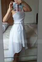 A-Line/Princess One-Shoulder Asymmetrical Chiffon Bridesmaid Dress With Ruffle Bow(s) Cascading Ruffles (266177009)