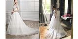 Ball-Gown Off-the-Shoulder Court Train Organza Wedding Dress With Ruffle Beading Sequins (002056954)