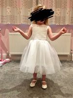 Tea-length Flower Girl Dress - Tulle Lace Sleeveless Scoop Neck (269193600)