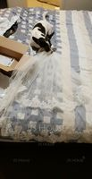 Two-tier Lace Applique Edge Fingertip Bridal Veils With Applique (006120952)