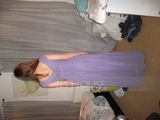 A-Line/Princess V-neck Floor-Length Chiffon Evening Dress With Ruffle (017096359)