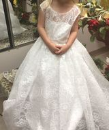 Floor-length Flower Girl Dress - Tulle Lace Sleeveless Scoop Neck With Back Hole (269193569)