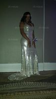 Trumpet/Mermaid V-neck Sweep Train Sequined Evening Dress (271253248)