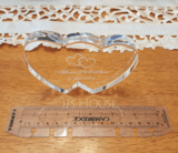 Personalized Double Hearts Crystal Cake Topper (118048034)