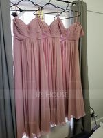 A-Line/Princess Off-the-Shoulder Floor-Length Chiffon Bridesmaid Dress With Ruffle (266176968)