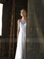 Floor-Length Tulle Bridesmaid Dress With Ruffle Appliques Lace (266195879)