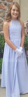 Scoop Neck Floor-Length Chiffon Junior Bridesmaid Dress With Ruffle (268193374)
