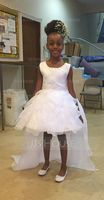 Ball-Gown/Princess Court Train Flower Girl Dress - Organza/Satin Sleeveless Scoop Neck With Ruffles/Beading/Appliques (010092954)