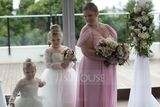 Off-the-Shoulder Floor-Length Chiffon Bridesmaid Dress With Ruffle (266195745)