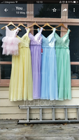 A-Line/Princess V-neck Floor-Length Chiffon Lace Bridesmaid Dress With Ruffle (007116632)