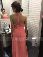 A-Line Sweetheart Floor-Length Prom Dresses With Ruffle (272249052)