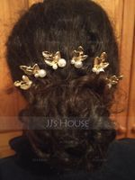 Elegant Alloy/Imitation Pearls Hairpins (Set of 6) (042069906)