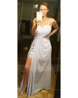 Sheath/Column Sweetheart Asymmetrical Chiffon Prom Dresses (018022506)