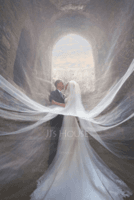 Two-tier Cut Edge Cathedral Bridal Veils (006122642)