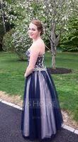 Ball-Gown Sweetheart Floor-Length Tulle Lace Prom Dresses With Beading Sequins (018056781)