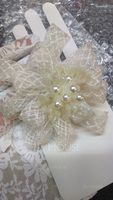 Gorgeous Imitation Pearls/Net Yarn Flowers & Feathers (042026174)