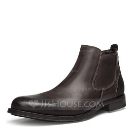 Men's Real Leather Chelsea Casual Men's Boots (261176697)