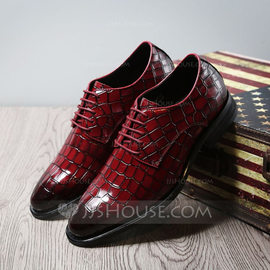 Men's Real Leather Lace-up Casual Dress Shoes Men's Oxfords (259209739)
