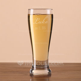 Groomsmen Gifts - Personalized Classic Glass Beer Mug (258184525)