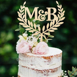 Personalized Rustic Acrylic/Wood Cake Topper (119217040)
