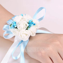 Artificial Flower Wrist Corsage (Sold in a single piece) - (123185652)
