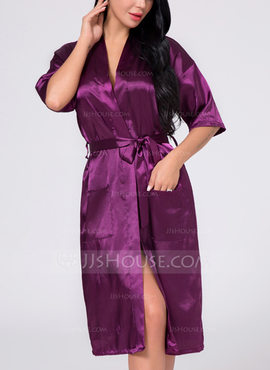 Silk Bride Bridesmaid Blank Robes (248176087)