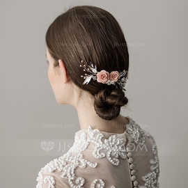 Ladies Special Imitation Pearls Combs & Barrettes With Venetian Pearl (Sold in single piece) (042182531)