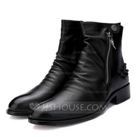 Men's Microfiber Leather Chelsea Casual Men's Boots (261176412)