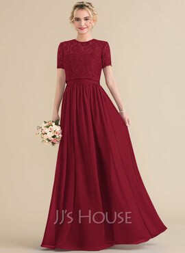 A-Line Sweetheart Floor-Length Chiffon Bridesmaid Dress (007131064)