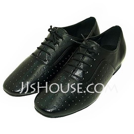 Men's Real Leather Practice Dance Shoes (053013477)