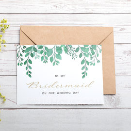 Bridesmaid Gifts - Card Paper Wedding Day Card (256184496)
