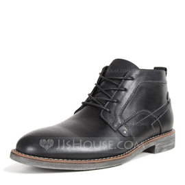 Men's Real Leather Chelsea Casual Men's Boots (261176705)