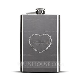 Groom Gifts - Personalized Classic Elegant Stainless Steel Flask (257176260)