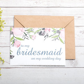 Bridesmaid Gifts - Beautiful Card Paper Wedding Day Card (256184485)